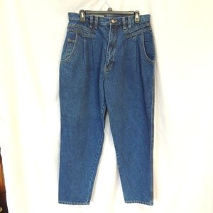 FORENZA 1980's High Waisted Pleated Jeans Pants 16